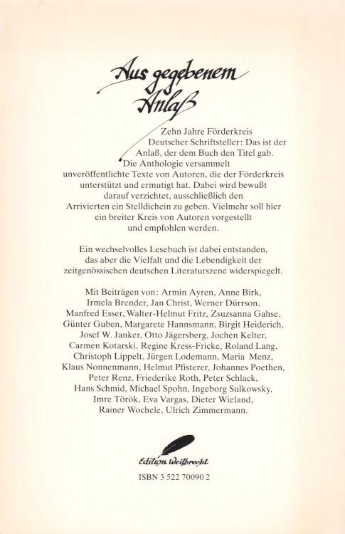 Anne-Birk-Anthologie-Aus-gegebenem-Anlass-Buch-Umschlag-Thienemanns-Verlag-ISBN-9783522700902-Back-Rückseite