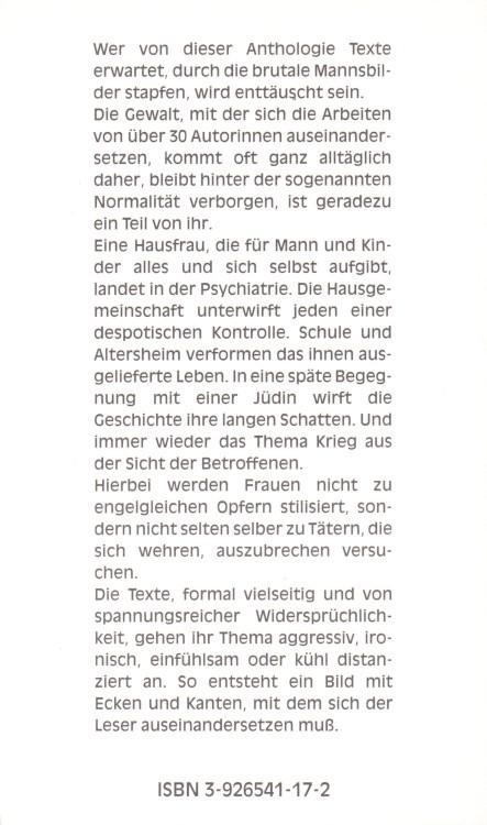 Anne-Birk-Anthologie-Beifall-fuer-Lilith-Buch-Umschlag-Alkyon-Verlag-ISBN-9783926541172-Back-Rückseite
