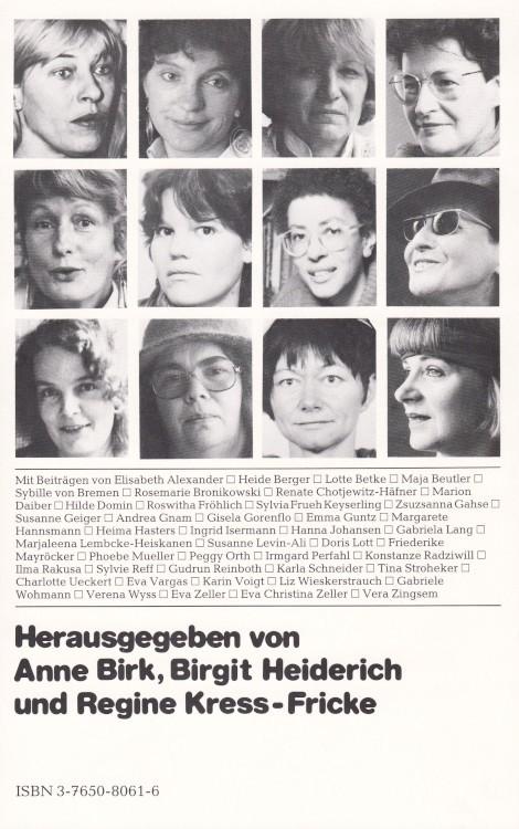 Anne-Birk-Anthologie-Lesebuch-Schreibende-Frauen-Buch-Umschlag-ISCHFRA-ISBN-9783765080616-Back-Rückseite