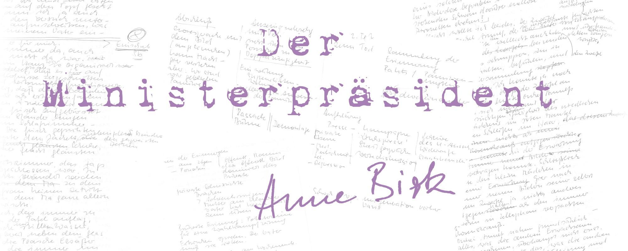Anne-Birk-Der-Ministerpraesident-Schriftbild