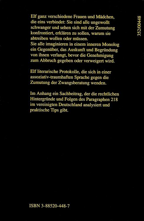 Anne-Birk-Zumutungen-Frauen-Paragraph-Elefanten-Press-ISBN-9783885204480-Back-Rückseite
