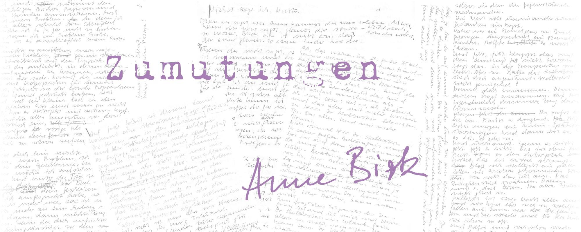 Anne-Birk-Zumutungen-Schriftbild